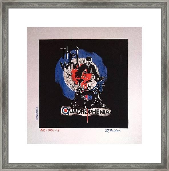 The Who - Quadrophenia Framed Print by Richard John Holden RA