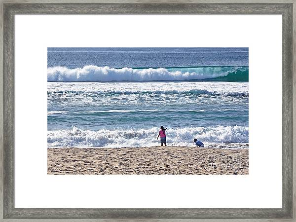 Thundering Waves Framed Print