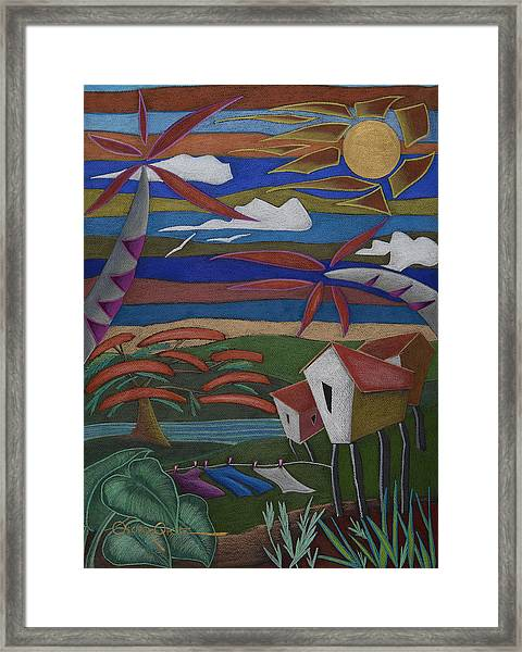 Framed Print featuring the painting Tiempos Y Remembranzas by Oscar Ortiz