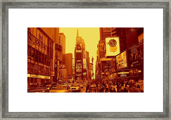 42nd Street And Times Square Manhattan Framed Print