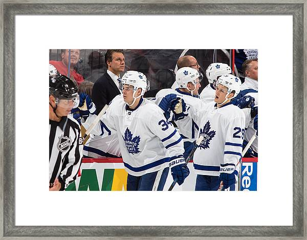 Toronto Maple Leafs V Ottawa Senators Framed Print by Jana Chytilova/Freestyle Photo