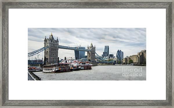 Tower Bridge London Framed Print by Donald Davis