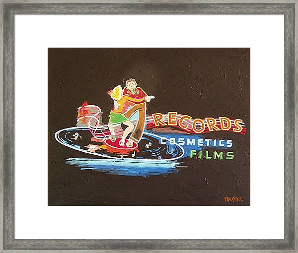 Tower Records Framed Print by Paul Guyer