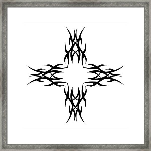 436224662 Tribal Tattoo Art Designs. Framed Print by RuDVi