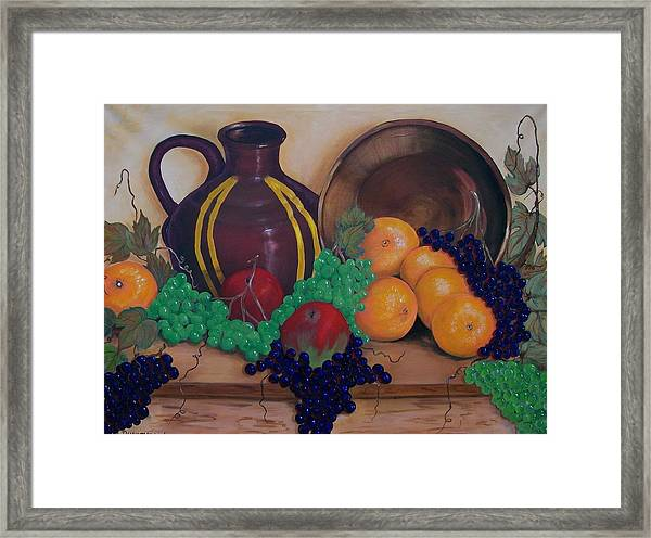 Tuscany Treats Framed Print