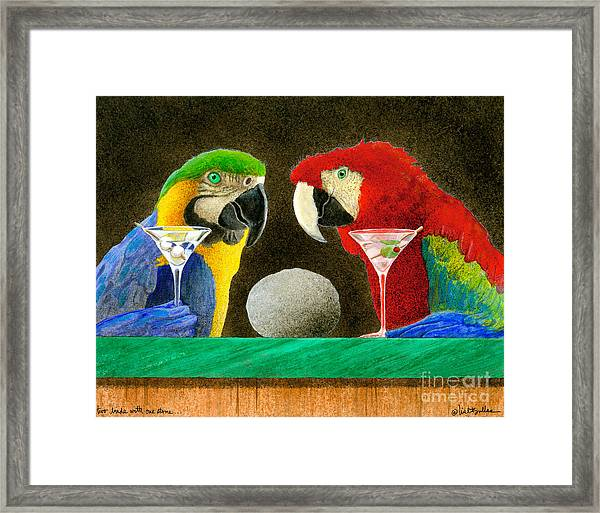 Two Birds With One Stone... Framed Print