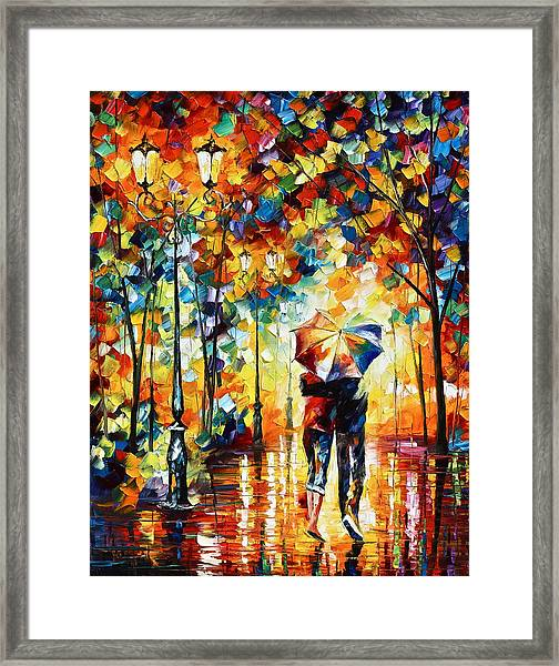 Under One Umbrella Framed Print