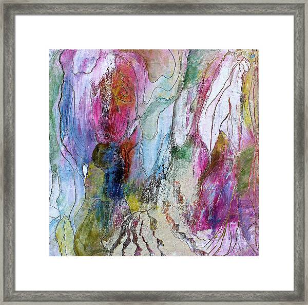 Under The Ice Of Venus Framed Print