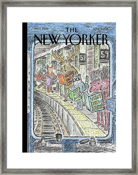 New Yorker April 4th, 2011 Framed Print