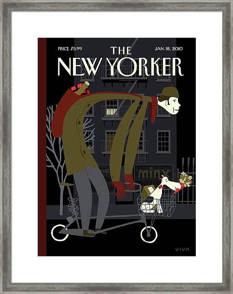 New Yorker January 18th, 2010 Framed Print by Frank Viva