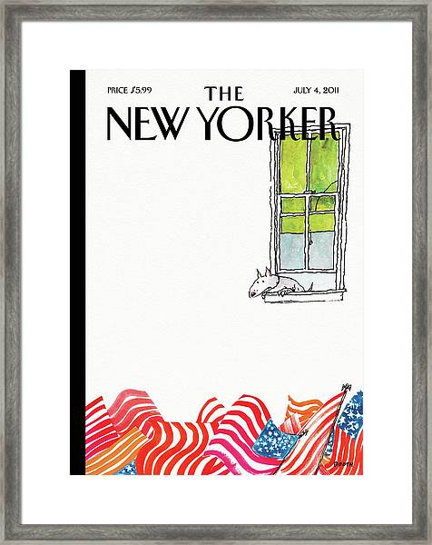 New Yorker July 4th, 2011 Framed Print