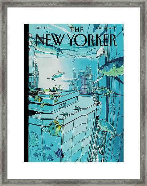 New Yorker April 25th, 2005 Framed Print