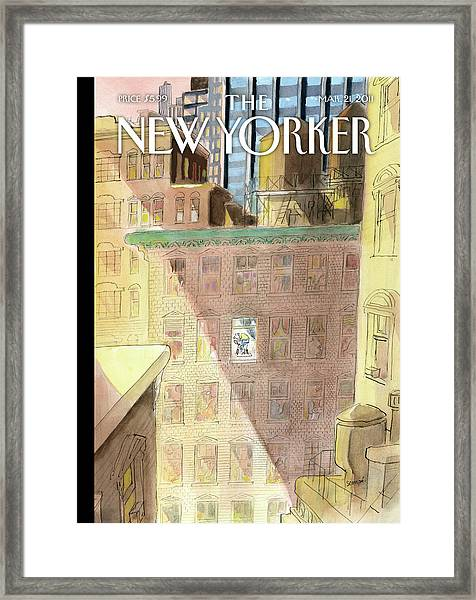 New Yorker March 21st, 2011 Framed Print