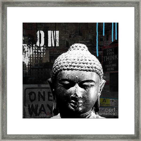 Urban Buddha  Framed Print