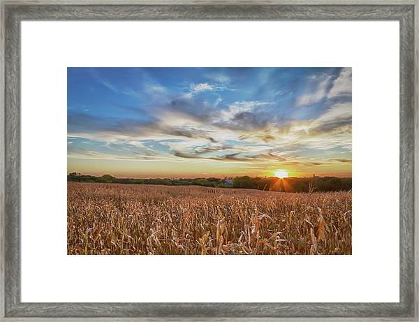 Usa, Nebraska, Near Omaha Framed Print