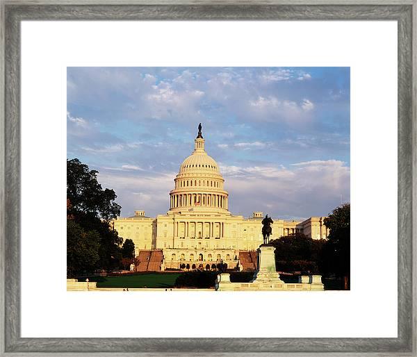 Usa, Washington Dc, Capitol Building Framed Print