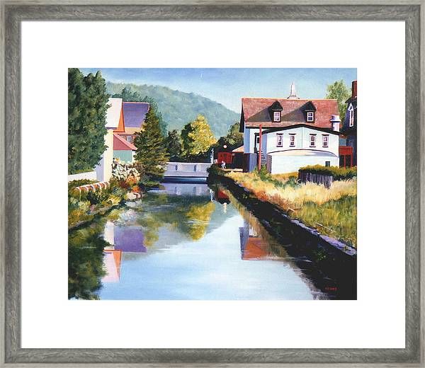 View Along The Canal Framed Print