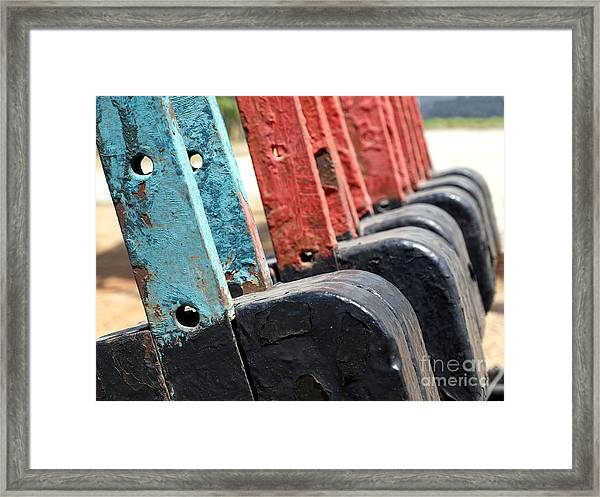 Vintage Railroad Switches Framed Print