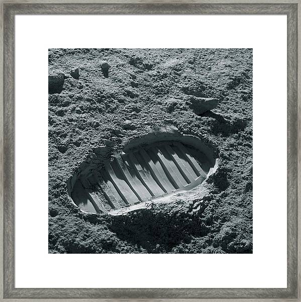 Walking On The Moon Framed Print