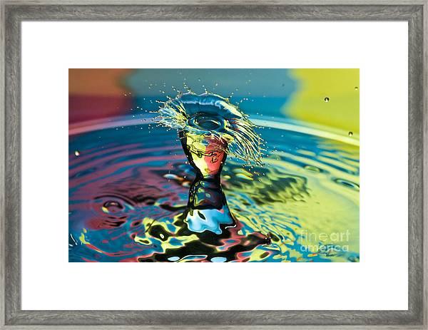 Water Splash Having A Bad Hair Day Framed Print