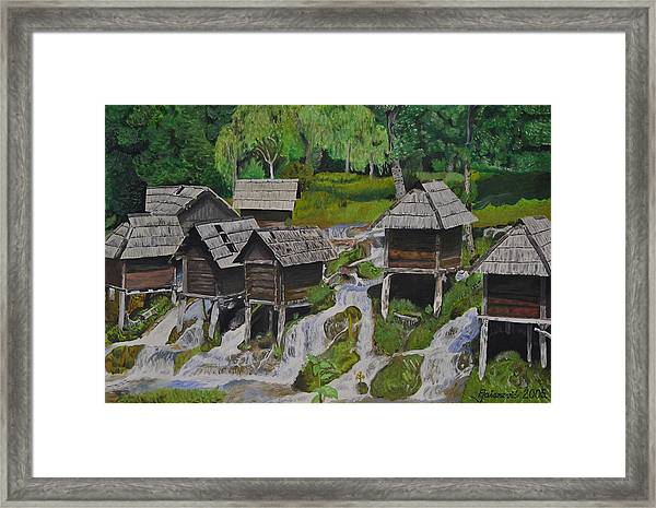 Watermill On Pliva Framed Print by Ferid Jasarevic