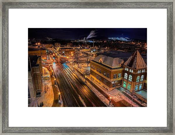 Wausau After Dark Framed Print
