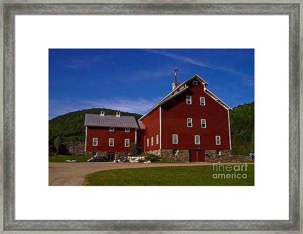 West Monitor Barn. Framed Print