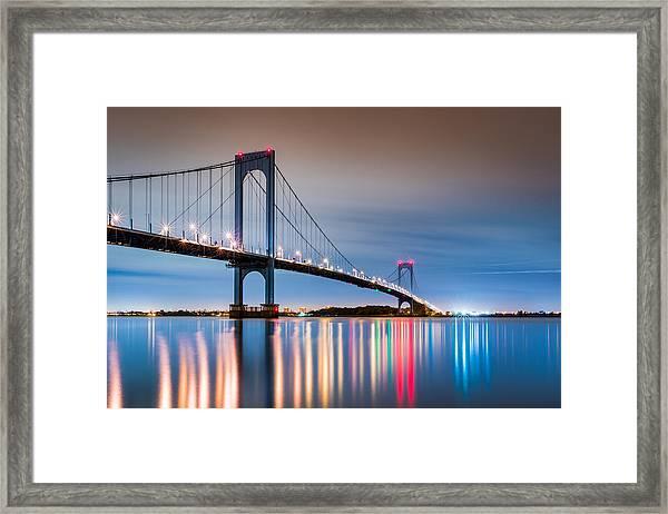 Whitestone Bridge Framed Print
