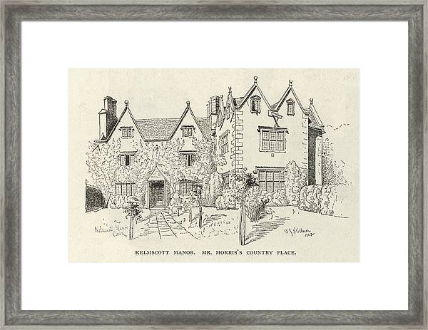 William Morris  English Writer's Home Framed Print by Mary Evans Picture Library