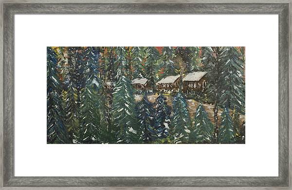 Winter Has Come To Door County. Framed Print