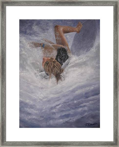 Wipeout Framed Print