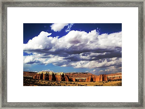 Capitol Reef National  Park Cathedral Valley Framed Print