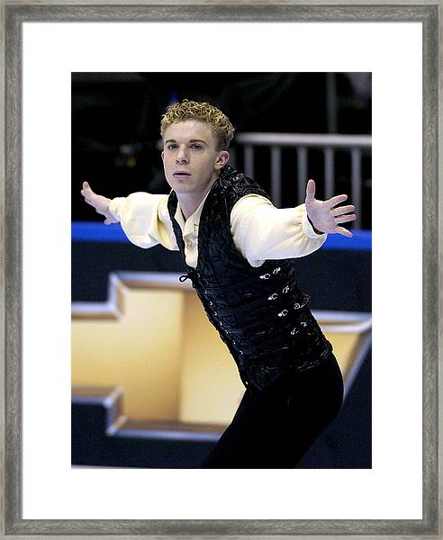 2004 State Farm U. S. Figure Skating Championships - Men's Short Program Framed Print by Al Messerschmidt