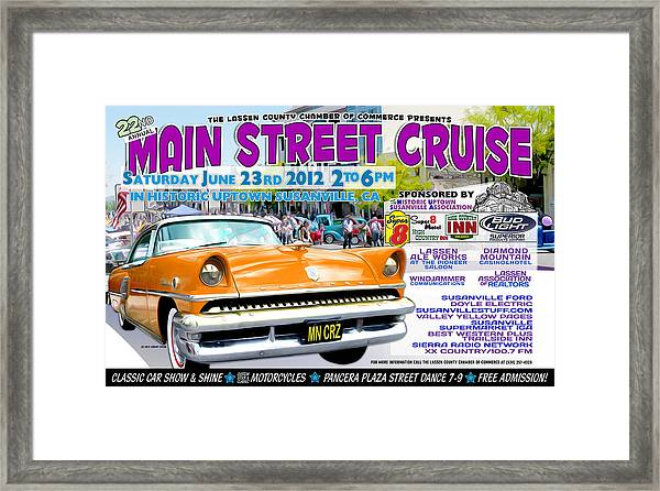2012 Main Street Cruise Poster Framed Print by The Couso Collection