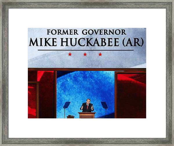 2012 Republican National Convention: Day 3 Framed Print by Mark Wilson
