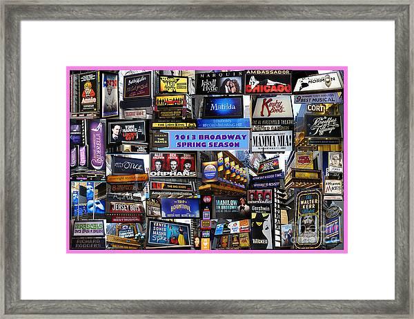 2013 Broadway Spring Collage Framed Print