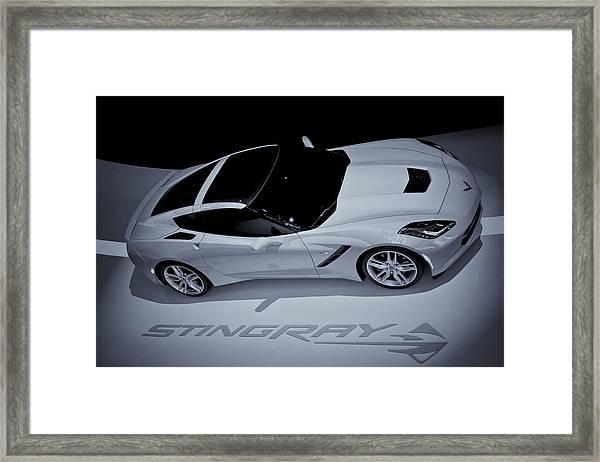 2014 Chevy Corvette  Bw Framed Print