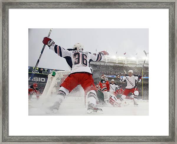 2014 Coors Light Nhl Stadium Series - Framed Print by Bruce Bennett
