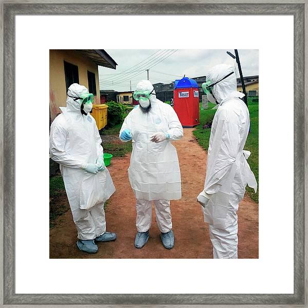 2014 Ebola Virus Disease Outbreak Framed Print by Cdc