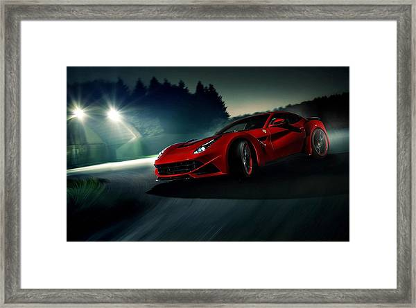 2014 Novitec Rosso Ferrari F12 Berlinetta N Largo Framed Print