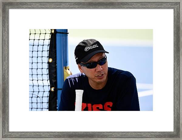 2014 Us Open - Day 14 Framed Print by Alex Goodlett