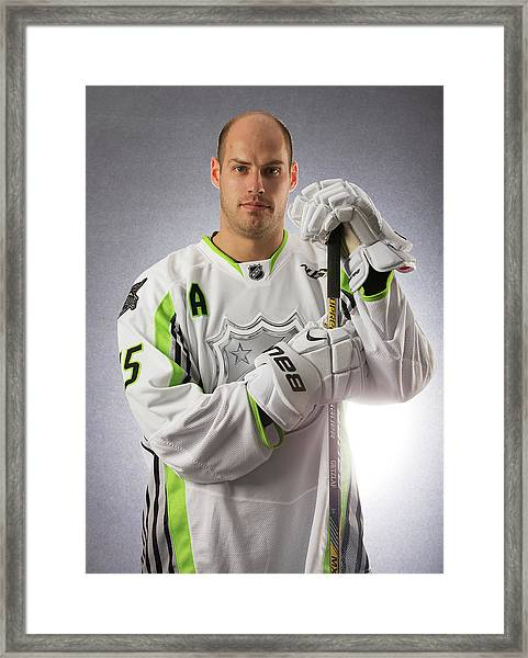 2015 Honda Nhl All-star Portraits Framed Print by Gregory Shamus