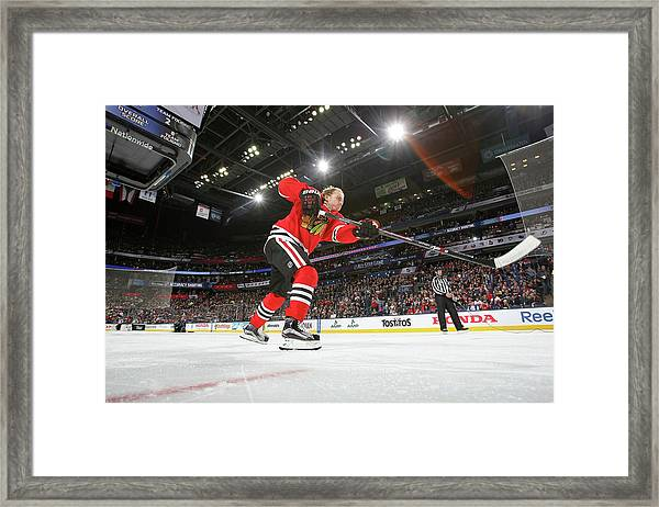 2015 Honda Nhl All-star Skills Framed Print by Dave Sandford