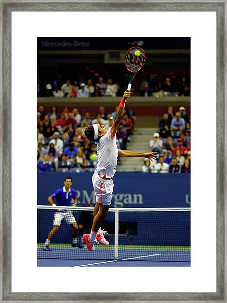 2015 U.s. Open - Day 14 Framed Print