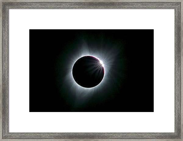 2017 Total Solar Eclipse Framed Print by Hua Zhu