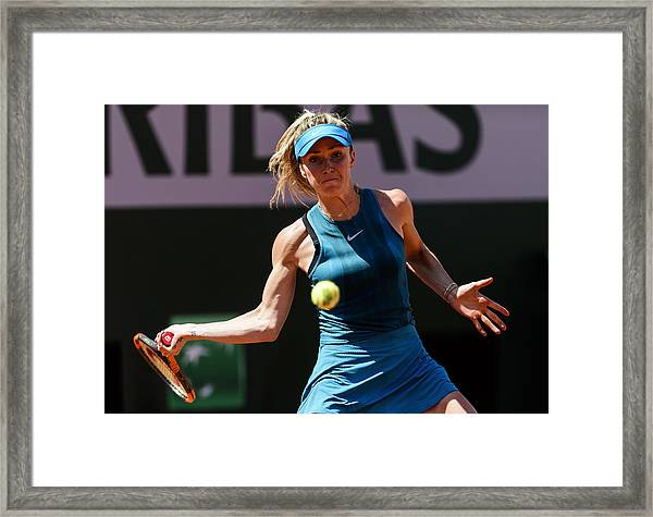 2018 French Open - Day One Framed Print by Mike Frey