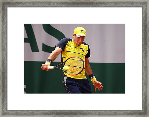 2018 French Open - Day Two Framed Print by Clive Brunskill