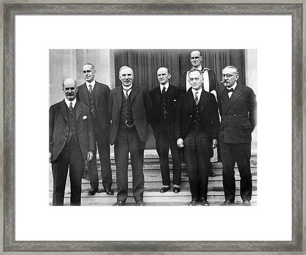 20th Century European Physicists Framed Print
