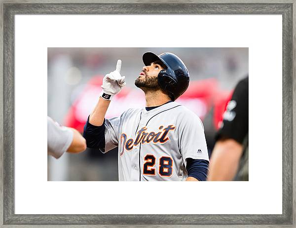 Detroit Tigers V Cleveland Indians Framed Print by Jason Miller