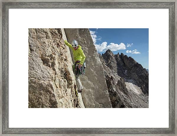 Rock Climbing Lifestyle Sierras Framed Print
